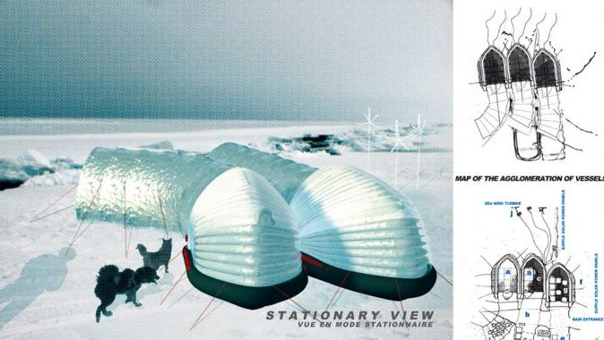 Arctic Perspective Initiative, Open Design Competition, Winning Design by Catherine Rannou.