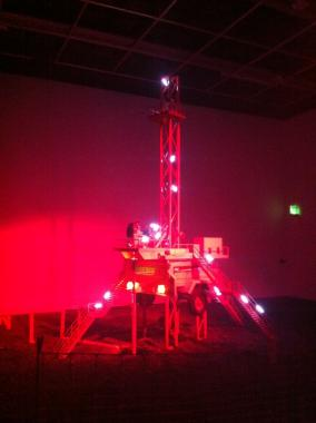 The HeHe Fracking Futures installation at FACT Liverpool, 2013.