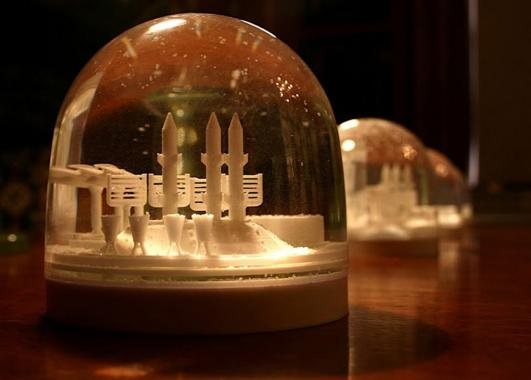 Forecast Factory: Snow Globes and Climate Change by Weather Permitting, commissioned by The Arts Catalyst for Bipolar