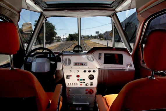 view from the cabin of SEFT-1 artists' vehicle