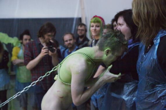 Performance by Martin O'Brien, Taste of Flesh / Bite Me I'm Yours, 2015