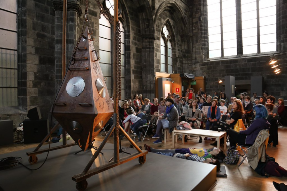 Ariel Guzik, soundscape event for Holoturian at Edinburgh Art Festival, 2015