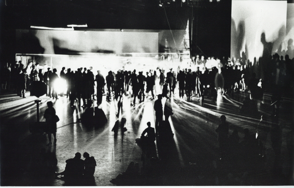 John Cage, Variations VII, 9 Evenings: Theatre & Engineering, October 1966, Photo by Adelaide de Menil
