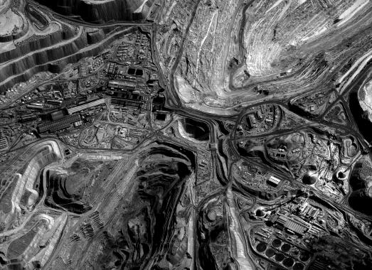 Ignacio Acosta: Satellite views of Chuquicamata corporate mining town, c. 2011. Atacama Desert, Chile