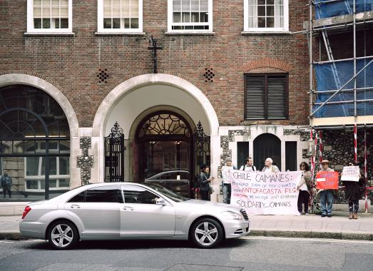 Ignacio Acosta: Demonstration outside Antofagasta PLC Annual General Meeting. Church House, London, England, 2013